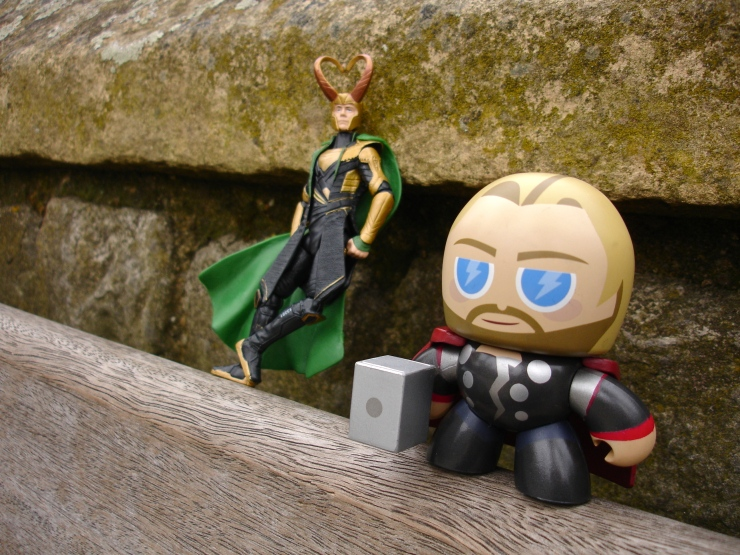 I brought Loki and Thor to England with me, and they joined us on our tour of the Tower.
