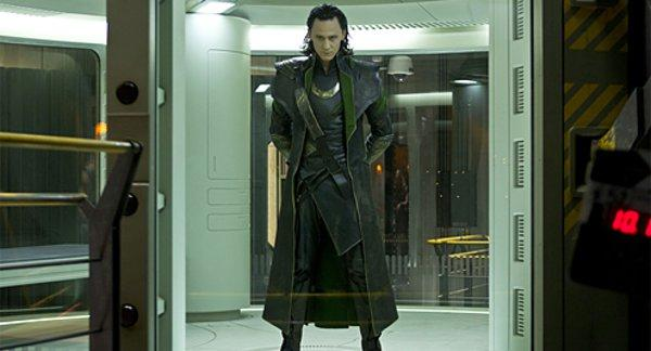 "Tom Hiddleston as Loki in ""The Avengers,"" here kept in mint condition in his glass cage."