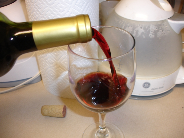 Take the opportunity to pour yourself another glass of wine