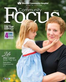 Cover of Fall 2018 Community Focus Magazine for Wooster Community Hospital Health System